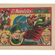 Tebeos: EL AMULETO VERDE AÑO 1956 COLECCIÓN COMPLETA SON 24 TEBEOS ORIGINALES MUY NUEVOS. Lote 177741638