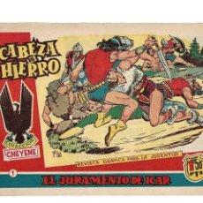 Tebeos: CABEZA DE HIERRO AÑO 1959 COLECCIÓN COMPLETA SON 12 TEBEOS ORIGINALES DIBUJANTE RIPOLL G.. Lote 177761754
