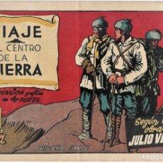 Tebeos: VIAJE AL CENTRO DE LA TIERRA COMPLETA EN SUS 2 PARTES ORIGINALES, CISNE 1942, MUY BIEN CON SUSCROMOS. Lote 177264940