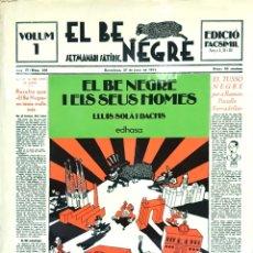 Tebeos: EL BE NEGRE. VOLUMEN 1. EDICION FACSIMIL. Lote 177788218