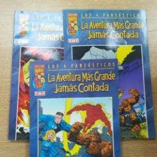 Tebeos: 4 FANTASTICOS LA AVENTURAS MAS GRANDE JAMAS CONTADA COLECCIÓN COMPLETA (3 TOMOS). Lote 177811577