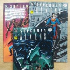 Tebeos: SUPERMAN ALIENS COLECCIÓN COMPLETA (3 TOMOS). Lote 177811603