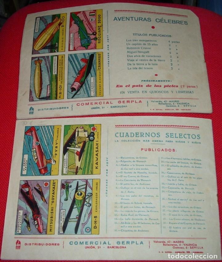 Tebeos: DE LA TIERRA A LA LUNA COMPLETA EN SUS 2 PARTES ORIGINALES, CISNE 1942, MUY BIEN CON SUSCROMOS - Foto 3 - 177265267