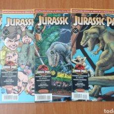 Tebeos: LOTE 4 TEBEOS JURASSIC PARK (EDICIONES B, 1993) COLECCIÓN COMPLETA!!. Lote 178201175