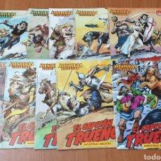 Tebeos: LOTE 10 TEBEOS AVENTURAS BIZARRAS EL CAPITAN TRUENO - COLECCION COMPLETA!!. Lote 178201570