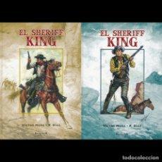 Tebeos: EL SHERIFF KING. 1 Y 2. EDICIONES B. COLECCION COMPLETA. VÍCTOR MORA Y FRANCISCO DÍAZ. Lote 178621220