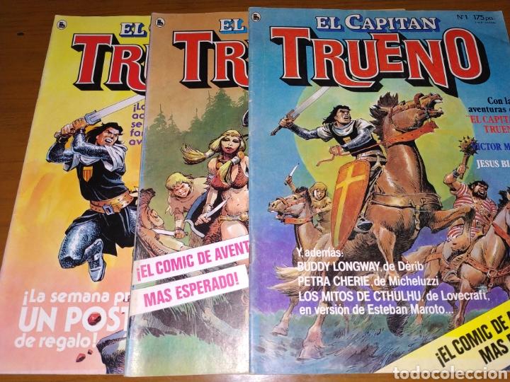 Tebeos: LOTE DEL CAPITÁN TRUENO NÚMEROS 1, 2 Y 3 - Foto 3 - 178632040