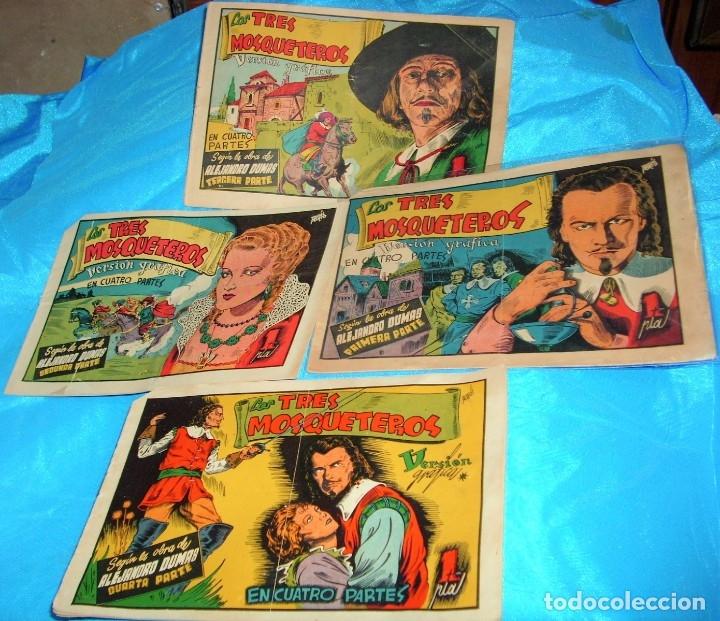 LOS TRES MOSQUETEROS EN 4 PARTES COMPLETA H.A. 1943 - ORIGINALES- IMPORTANTE LEER -REBAJADA (Tebeos y Comics - Tebeos Colecciones y Lotes Avanzados)