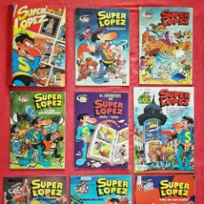 Tebeos: LOTE 9 COMICS COLECCIÓN OLE! SUPER LOPEZ + TOMO TAPA DURA SUPER LOPEZ. Lote 179400652