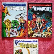 Tebeos: LOTE 3 COMICS: LOS VENGADORES Y LOS 4 FANTÁSTICOS EXCELSIOR BIBLIOTECA MARVEL.. Lote 179524702