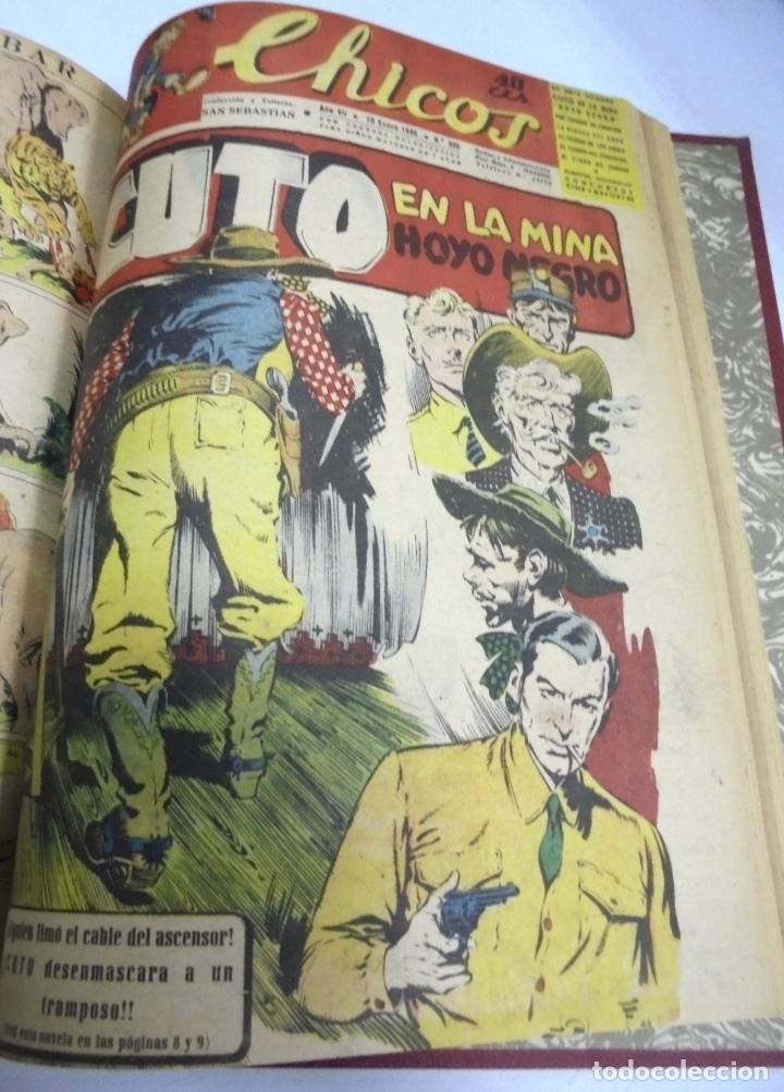 Tebeos: COLECCION DE 69 NUMEROS DE TEBEO CHICOS. DIFERENTES. ENCUADERNADOS. 1943 -1944. VER. LEER - Foto 10 - 180074821