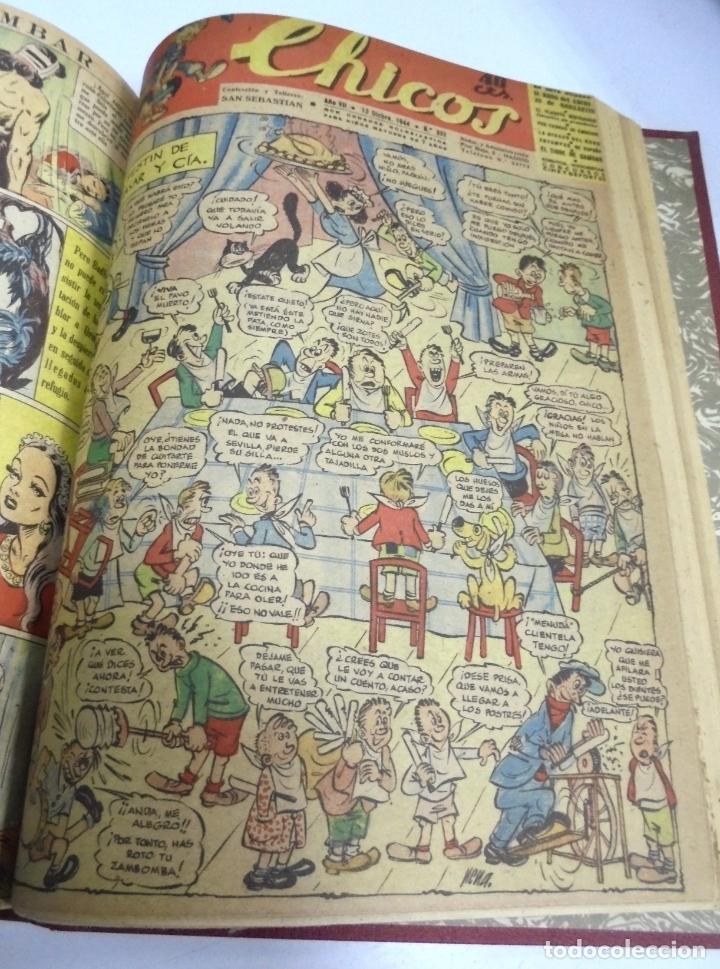 Tebeos: COLECCION DE 69 NUMEROS DE TEBEO CHICOS. DIFERENTES. ENCUADERNADOS. 1943 -1944. VER. LEER - Foto 14 - 180074821
