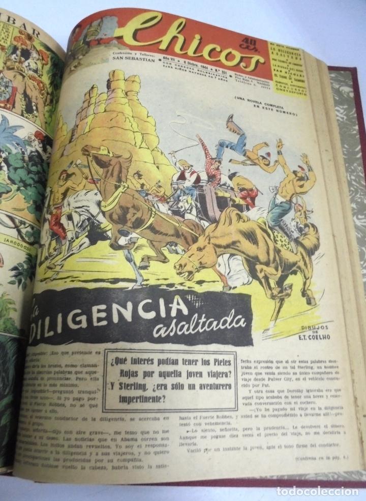 Tebeos: COLECCION DE 69 NUMEROS DE TEBEO CHICOS. DIFERENTES. ENCUADERNADOS. 1943 -1944. VER. LEER - Foto 15 - 180074821