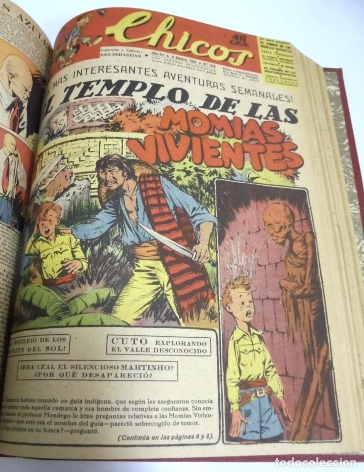 Tebeos: COLECCION DE 69 NUMEROS DE TEBEO CHICOS. DIFERENTES. ENCUADERNADOS. 1943 -1944. VER. LEER - Foto 28 - 180074821