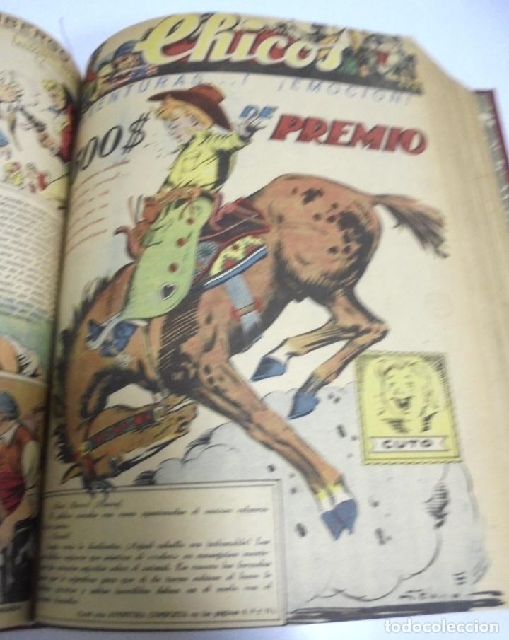 Tebeos: COLECCION DE 69 NUMEROS DE TEBEO CHICOS. DIFERENTES. ENCUADERNADOS. 1943 -1944. VER. LEER - Foto 50 - 180074821