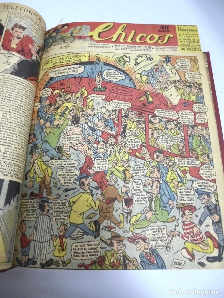 Tebeos: COLECCION DE 69 NUMEROS DE TEBEO CHICOS. DIFERENTES. ENCUADERNADOS. 1943 -1944. VER. LEER - Foto 68 - 180074821