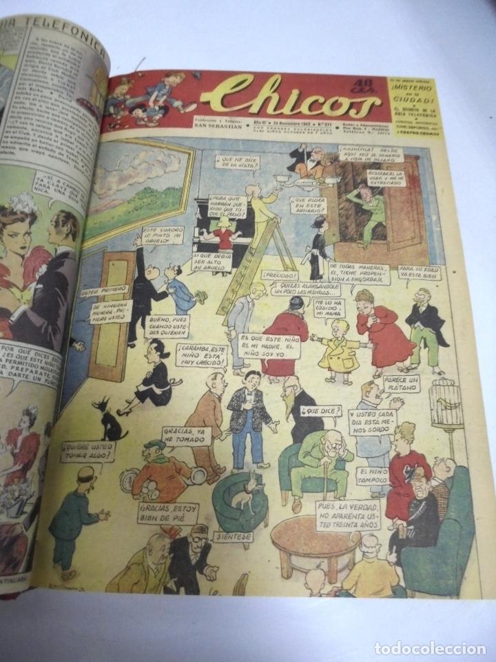 Tebeos: COLECCION DE 69 NUMEROS DE TEBEO CHICOS. DIFERENTES. ENCUADERNADOS. 1943 -1944. VER. LEER - Foto 69 - 180074821
