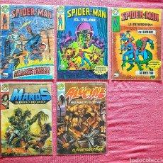 Tebeos: LOTE 5 COMICS MARVEL EDITORIAL BRUGUERA AÑOS 80. SPIDER-MAN.... Lote 180172951