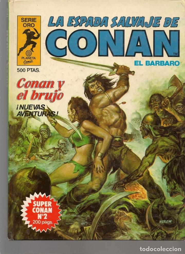 Tebeos: LA ESPADA SALVAJE DE CONAN EL BÁRBARO. 16 TOMOS. ¡¡COMPLETA!!. SERIE ORO. PLANETA, 1982. (RF.MA)B/13 - Foto 2 - 180186575
