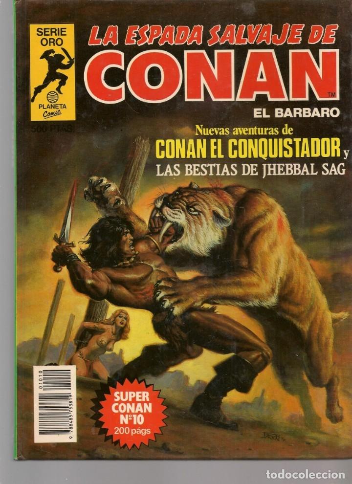 Tebeos: LA ESPADA SALVAJE DE CONAN EL BÁRBARO. 16 TOMOS. ¡¡COMPLETA!!. SERIE ORO. PLANETA, 1982. (RF.MA)B/13 - Foto 10 - 180186575