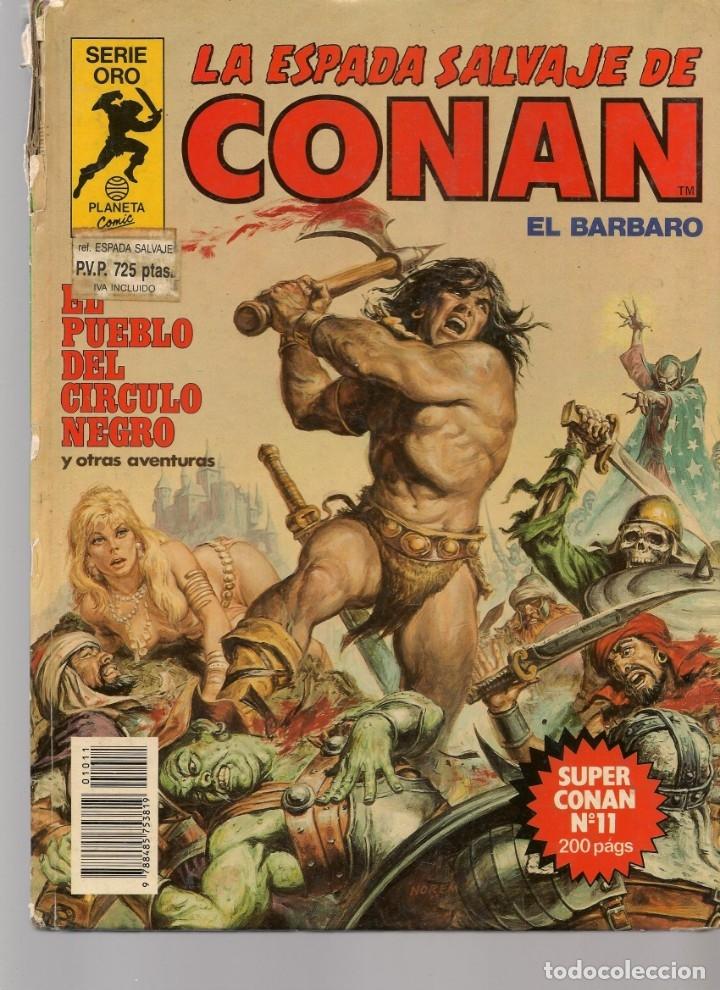 Tebeos: LA ESPADA SALVAJE DE CONAN EL BÁRBARO. 16 TOMOS. ¡¡COMPLETA!!. SERIE ORO. PLANETA, 1982. (RF.MA)B/13 - Foto 11 - 180186575