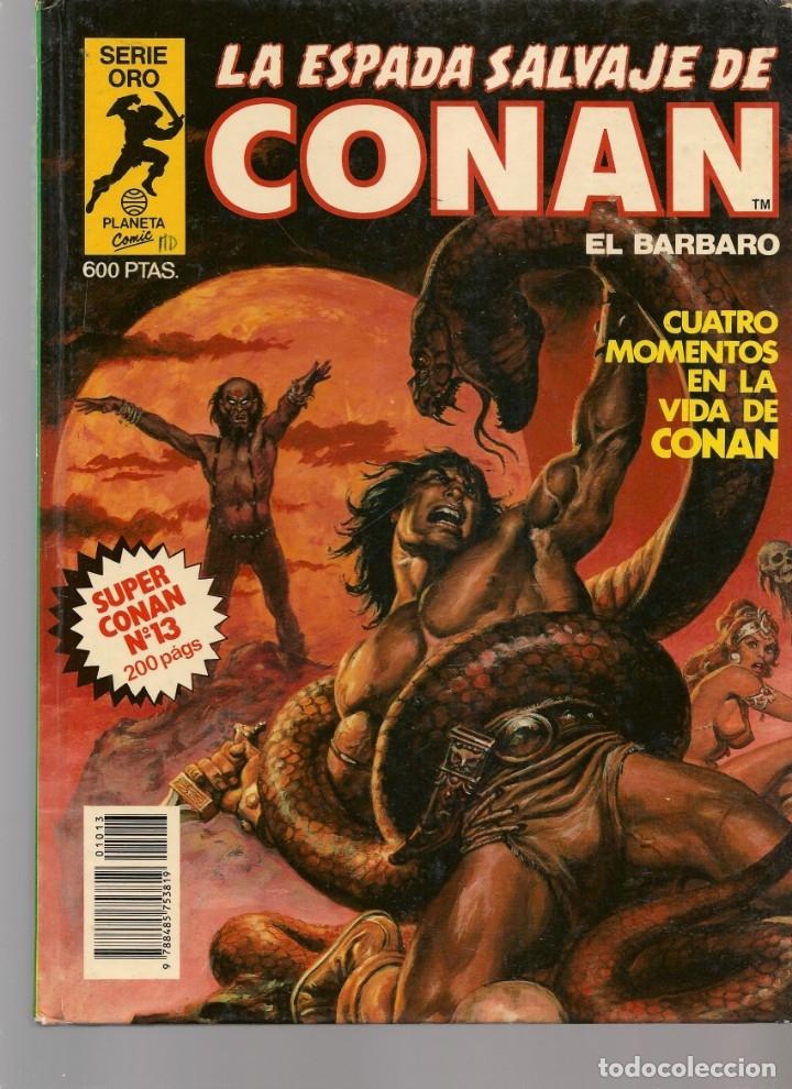 Tebeos: LA ESPADA SALVAJE DE CONAN EL BÁRBARO. 16 TOMOS. ¡¡COMPLETA!!. SERIE ORO. PLANETA, 1982. (RF.MA)B/13 - Foto 13 - 180186575