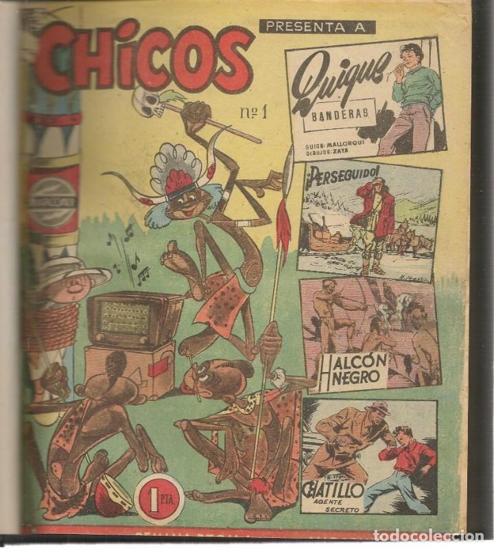 CHICOS. 69 NROS. ¡¡COLECCIÓN COMPLETA!!. ENCUADERNADA EN 2 TOMOS. EDICIONES CID, 1954. (RF.MA)B/21 (Tebeos y Comics - Tebeos Colecciones y Lotes Avanzados)