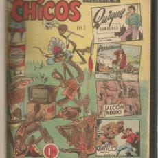 Tebeos: CHICOS. 69 NROS. ¡¡COLECCIÓN COMPLETA!!. ENCUADERNADA EN 2 TOMOS. EDICIONES CID, 1954. (RF.MA)B/21. Lote 180225412