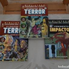 Tebeos: 3 TOMOS DE LAS COLECCIONES TERROR E IMPACTO DE LA EC. Lote 180279490