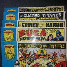 Tebeos: 5-TOMOS-EL GUERRERO DEL ANTIFAZ-1981-1-4-6-7-10. Lote 181110016