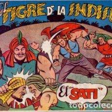 Tebeos: EL TIGRE DE LA INDIA AÑO 1962 COLECCIÓN COMPLETA SON 25 TEBEOS ORIGINALES MUY NUEVOS Y DIFICILES. Lote 181976715