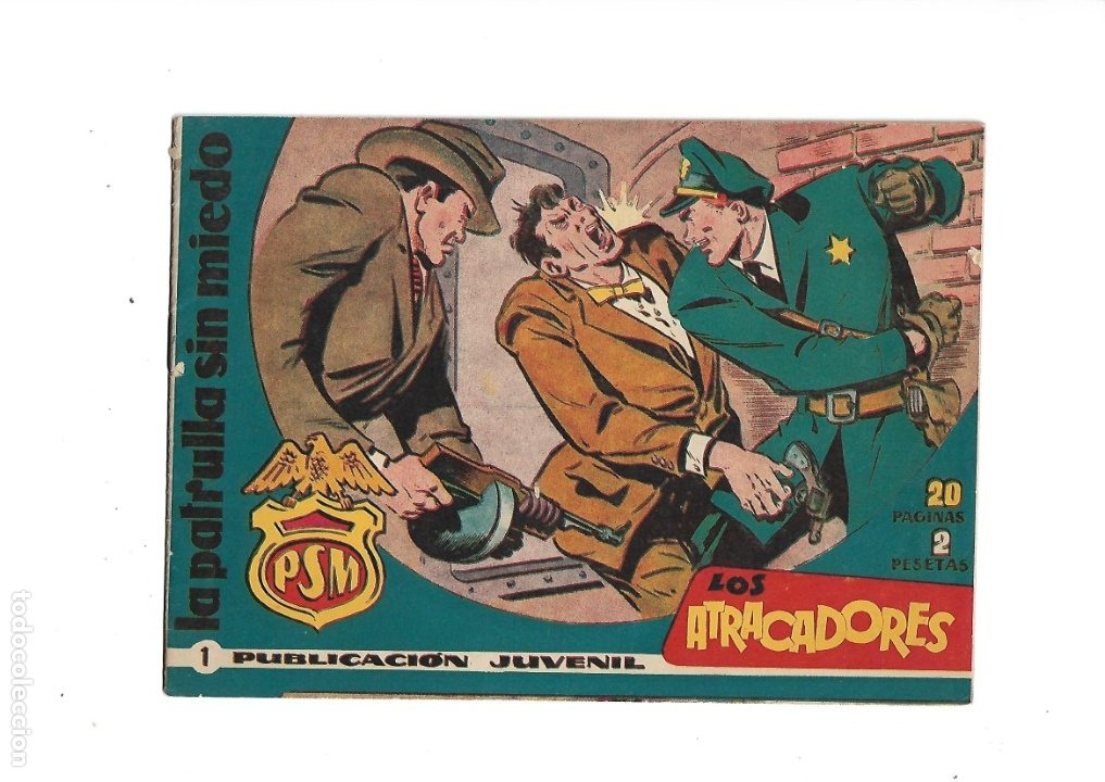 LA PATRULLA SIN MIEDO AÑO 1961 COLECCIÓN COMPLETA SON 24. TEBEOS ORIGINALES ES DIFICILISIMOS (Tebeos y Comics - Tebeos Colecciones y Lotes Avanzados)