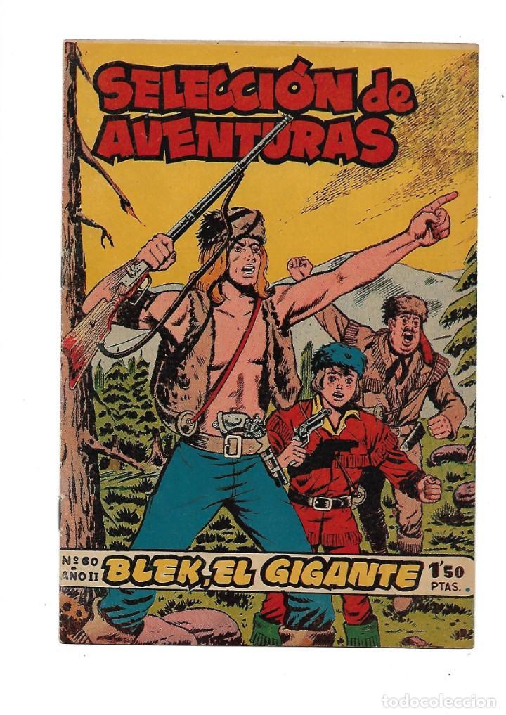 SELECCIÓN DE AVENTURAS 2ª EPOCA BLEK EL GIGANTE 1ª COLECCIÓN COMPLETA SON 42 TEBEOS ORIGINALES (Tebeos y Comics - Tebeos Colecciones y Lotes Avanzados)