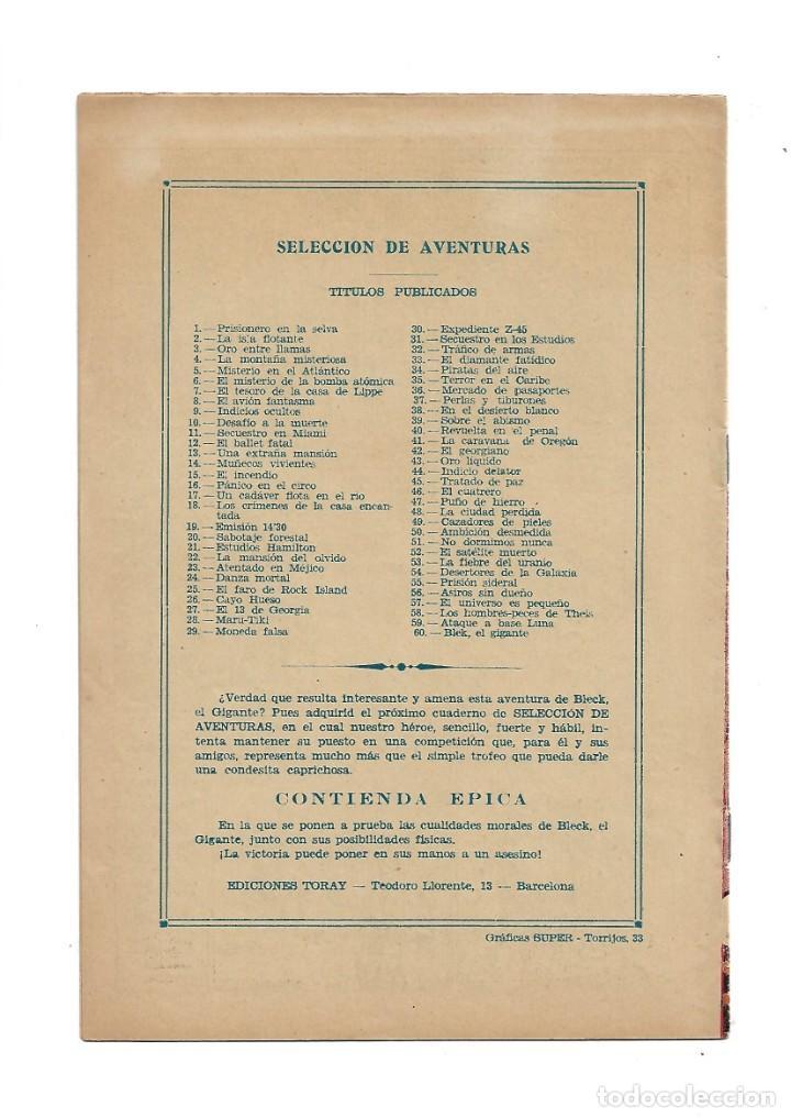 Tebeos: Selección de Aventuras 2ª Epoca Blek el Gigante 1ª Colección Completa son 42 Tebeos Originales - Foto 2 - 183445303