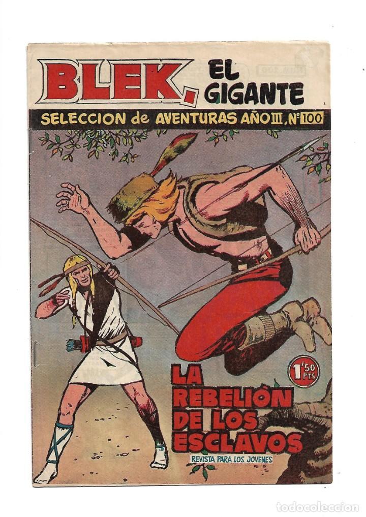 Tebeos: Selección de Aventuras 2ª Epoca Blek el Gigante 1ª Colección Completa son 42 Tebeos Originales - Foto 4 - 183445303