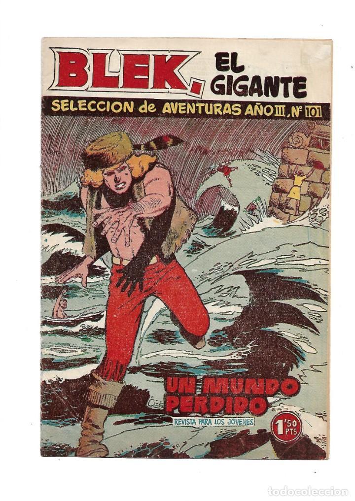 Tebeos: Selección de Aventuras 2ª Epoca Blek el Gigante 1ª Colección Completa son 42 Tebeos Originales - Foto 5 - 183445303