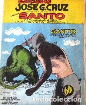 VINTA GE CÓMIC DE SANTO EL ENMASCARADO DE PLATA NO 429 AÑOS 50S (Tebeos y Comics - Tebeos Colecciones y Lotes Avanzados)
