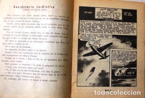 Tebeos: VINTA GE CÓMIC DE SANTO EL ENMASCARADO DE PLATA No 429 AÑOS 50s - Foto 2 - 183750418