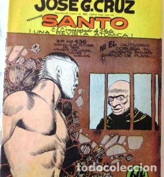 VINTA GE CÓMIC DE SANTO EL ENMASCARADO DE PLATA NO 436 AÑOS 50S (Tebeos y Comics - Tebeos Colecciones y Lotes Avanzados)