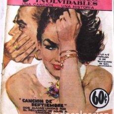 Tebeos: VINTA GE CÓMIC DE JOSE G . CRUZ CANCIONES INOLVIDABLES NO 45 AÑOS 50S. Lote 183838998