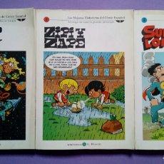Livros de Banda Desenhada: MORTADELO Y FILEMÓN, ZIPI Y ZAPE, SUPER LOPEZ - LOTE 3 N° LAS MEJORES HISTORIETAS DEL CÓMIC ESPAÑOL. Lote 184706816