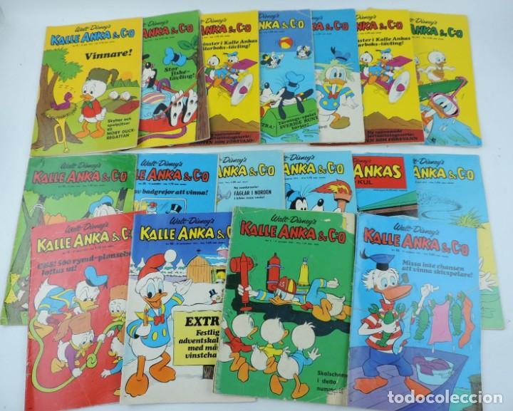 LOTE DE 17 COMICS KALLE ANKA & C:O, WALT DISNEY, SON SUECOS, AÑOS 1969, 1971, 1972. segunda mano