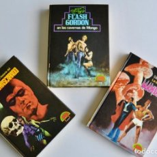 Tebeos: LOTE 3 LIBROS COLECCIÓN PULP. HOMBRE ENMASCARADO, FLASH GORDON Y MANDRAKE. PALA S.A. 1973-74. Lote 187097625