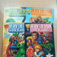 Tebeos: HEROES REBORN THE RETURN COLECCIÓN COMPLETA (4 NUMEROS). Lote 187242800