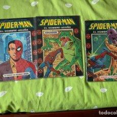 Tebeos: SPIDERMAN EL HOMBRE ARAÑA EDICIONES RECREATIVAS 3 NÚMEROS COMPLETA. Lote 187308272