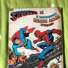 Tebeos: SUPERMAN VS EL SORPRENDENTE HOMBRE ARAÑA NOVARO. Lote 187309777