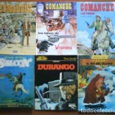 Tebeos: LOTE 10 COMICS DEL OESTE: DURANGO, COMANCHE, SALOON... Lote 190364996
