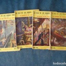Tebeos: LA ISLA DE LOS BUQUES PERDIDOS, 1929, IBERIA, COMPLETA, 4 NÚMEROS, USADOS. COLECCIÓN A.T.. Lote 191303873