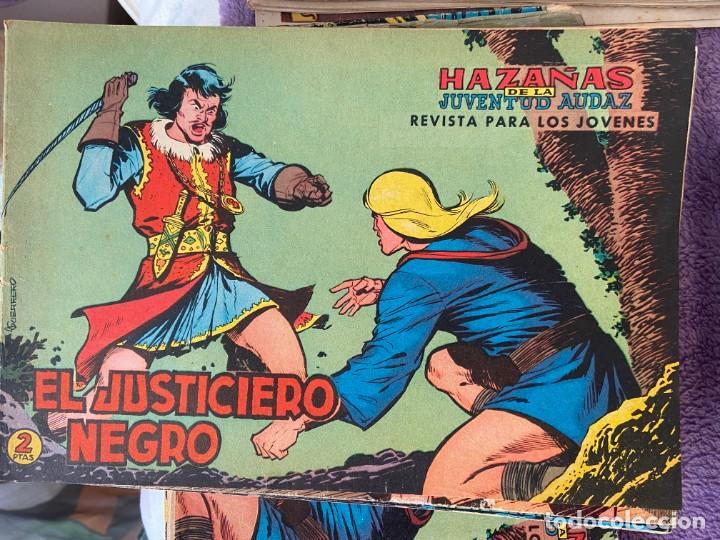 EL JUSTICIERO NEGRO COMPLETA A FALTA DEL Nº 23 SE VENDEN SUELTOS (Tebeos y Comics - Tebeos Pequeños Lotes de Conjunto)
