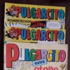 Tebeos: 2 PULGARCITO, 1 PULGARCITO EXTRA Y 1 MINI PULGARCITO - VER FOTOS. Lote 194269483